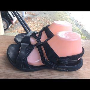Merrell Women's Black Leather Sport Sandals SZ. 10